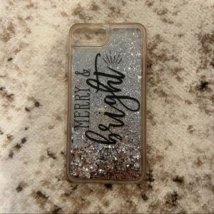 Casetify Merry & Bright Glitter iPhone 7 Plus Case